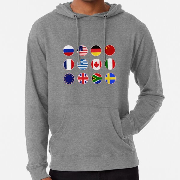 FASHION#CC Mens Pullover Hoodie Sweatshirt with Pockets Weightlifting American Flag