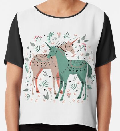 It's Still Unicorny Chiffon Top