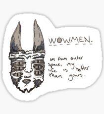 Wowmen - Neat Alien Sticker Sticker