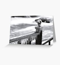 Frozen Railing Greeting Card