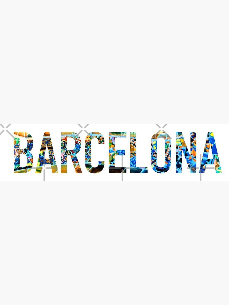 Etiqueta engomada del parque Guell de Barcelona de aterkaderk