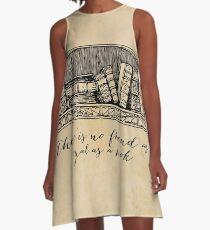 Hemingway - No Friend as Loyal as a Book A-Line Dress