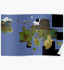 OldSchool Runescape World Map Poster