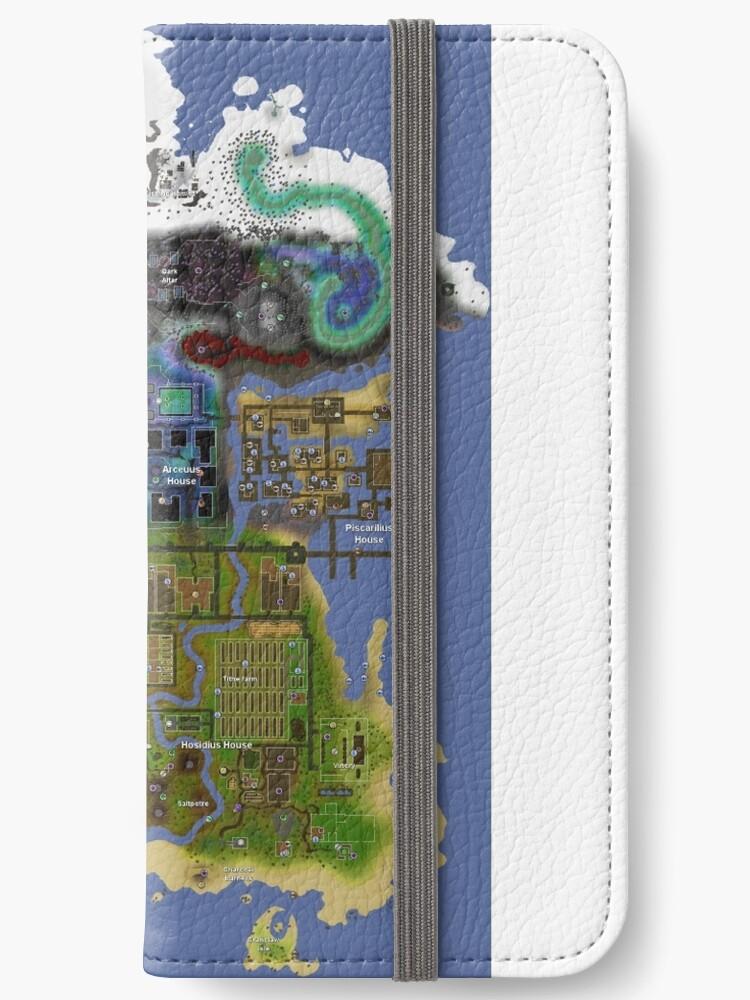 'OldSchool Runescape Zeah map' iPhone Wallet by ragsmaroon