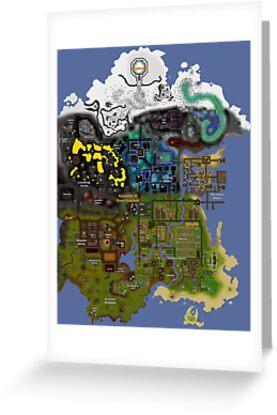 OldSchool Runescape Zeah Map By Ragsmaroon