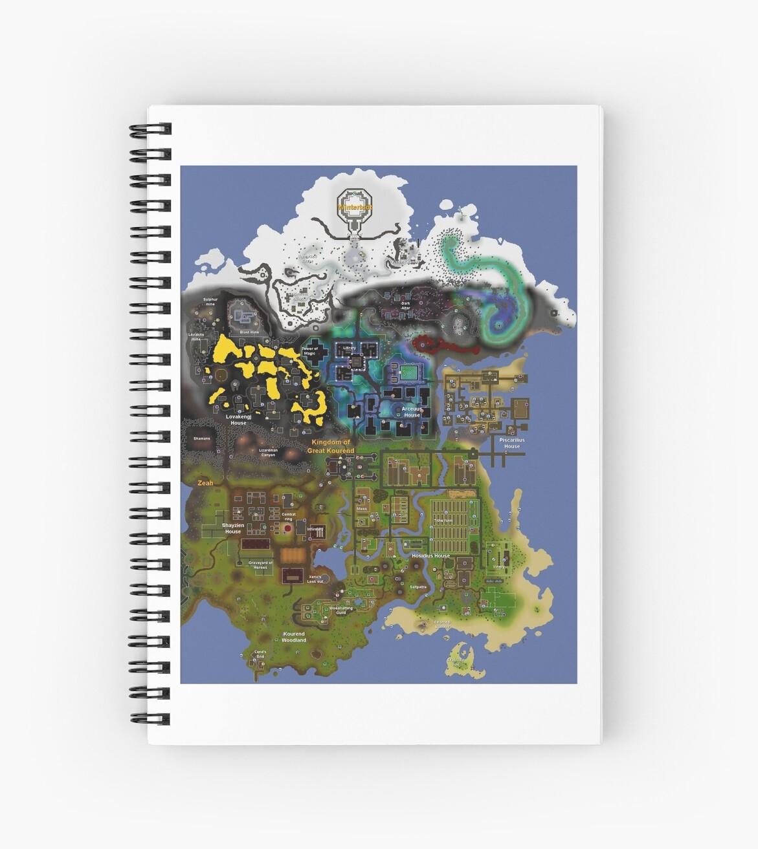 OldSchool Runescape Zeah map\