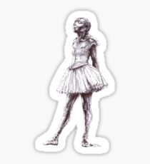 Little Dancer Ballpoint Pen Drawing Sticker