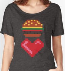8-BIT BURGER LOVE Women's Relaxed Fit T-Shirt