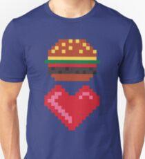 8-BIT BURGER LOVE Unisex T-Shirt