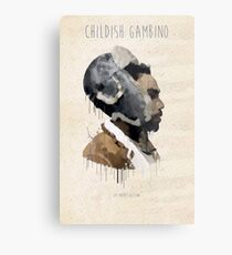 Childish Gambino Droplet Metal Print
