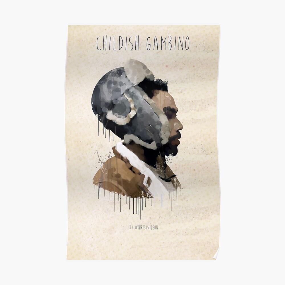 Childish Gambino Droplet Poster