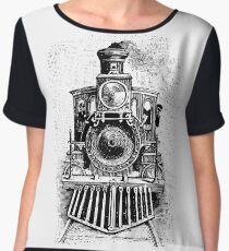Vintage Locomotive Train - Front Facing Chiffon Top