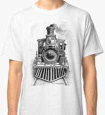 Vintage Locomotive Train - Front Facing Classic T-Shirt