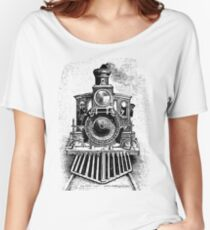 Vintage Locomotive Train - Front Facing Women's Relaxed Fit T-Shirt