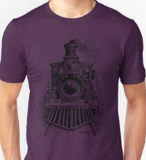 Vintage Locomotive Train - Front Facing Unisex T-Shirt