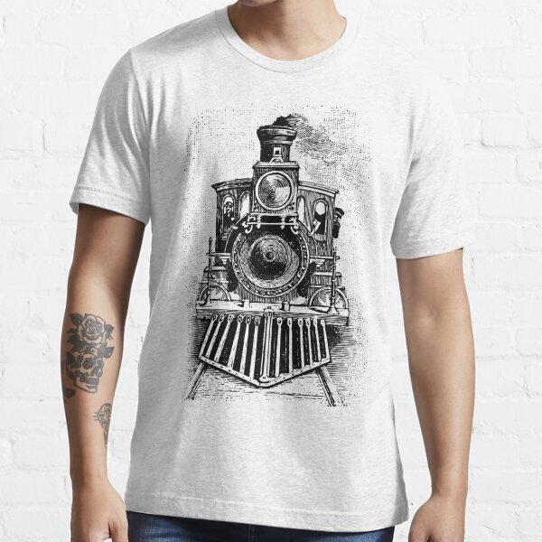 Vintage Locomotive Train - Front Facing Essential T-Shirt