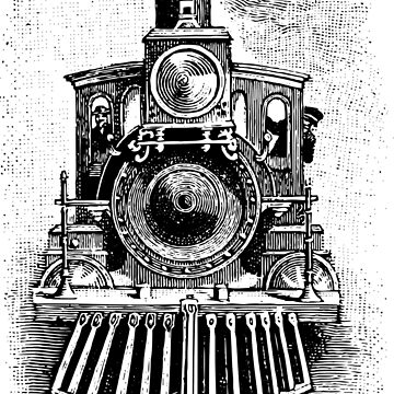 Vintage Locomotive Train - Front Facing by cartoon