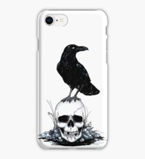 Inktober Skull and Raven iPhone Case/Skin