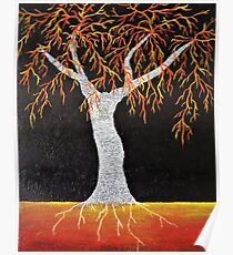 Red Earth Tree Poster