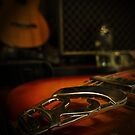 Classic guitar and amp by Matthew Larsen