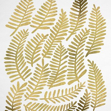 Modern Fronds – Gold Palette by catcoq