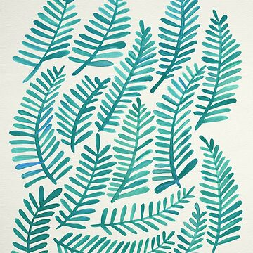 Modern Fronds – Turquoise Palette by catcoq