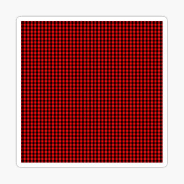 Micro Red and Black Buffalo Check Plaid Tartan Sticker