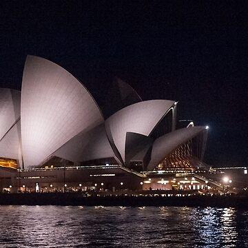 Sydney Opera House by night by warriorprincess