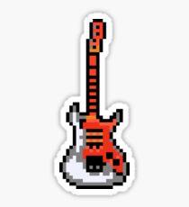 Cool Electric Guitar - Pixels Sticker