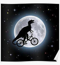 Dinosaur Moon Poster