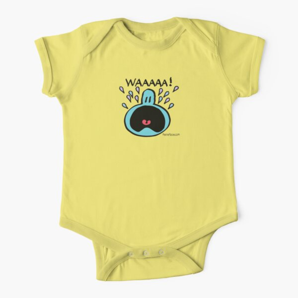 WAAAAA! Short Sleeve Baby One-Piece