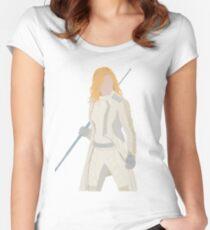 Camiseta entallada de cuello redondo Canario blanco