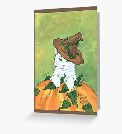 Pumpkin Cat Greeting Card