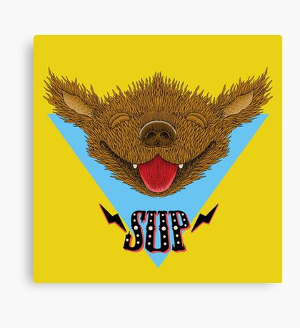 Sup Pup Happy Dog Canvas Print