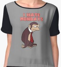 Monday Monkey Lives For The Weekend, Sir. Women's Chiffon Top