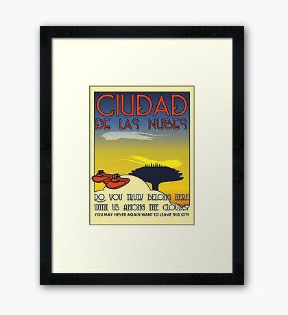 Ciudad De Las Nubes -  T-shirt and Poster Framed Print