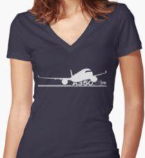 Camiseta entallada de cuello en V A350 XWB