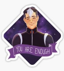 shiro says you are enough! Sticker