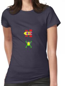 Arcade Love - Frogger Womens Fitted T-Shirt