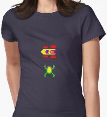 Arcade Love - Frogger Women's Fitted T-Shirt