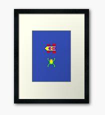 Arcade Love - Frogger Framed Print