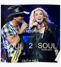 TIM MCGRAW - FAITH HILL SOUL 2 SOUL WORLD TOUR 2017 Poster