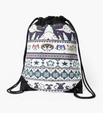 Space Lion Aesthetic Drawstring Bag