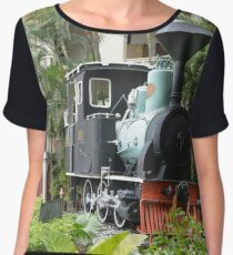 Train in garden Women's Chiffon Top