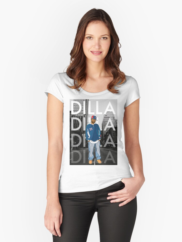 Dilla Women's Fitted Scoop T-Shirt Front