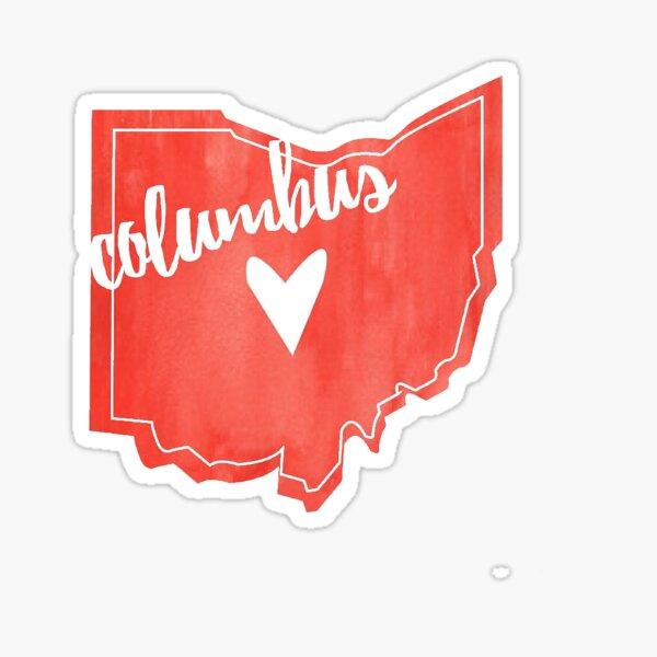 Columbus, Ohio Outline Sticker
