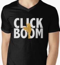 Camiseta para hombre de cuello en v hacer clic. auge.