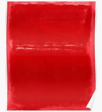 Mark Rothko Christmas Red Abstract Poster
