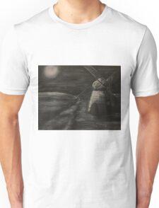 Black and White Windmill Unisex T-Shirt