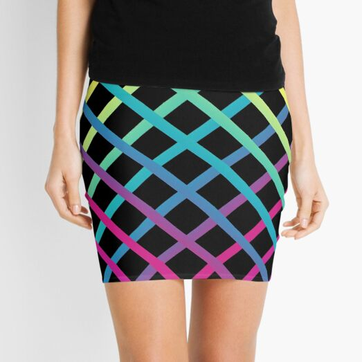 Latticework - Black Mini Skirt